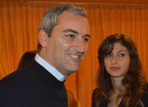 Nino Bosco con una giovane sostenitrice Ncd