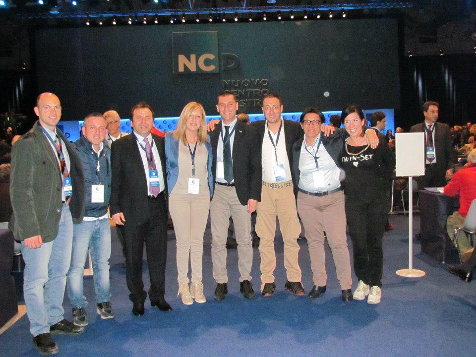 Ncd, la delegazione di Sciacca a Roma