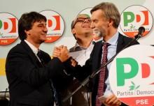 Peppe Zambito, Graziano Delrio e Davide Faraone