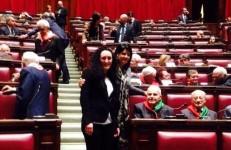 Le Deputate Pd Maria Iacono e Monica Gregori tra i partigiani