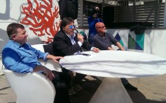 Silvio Alessi con Piero Marchetta e Peppe Vita