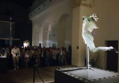 Beni culturali, inaugurato nuovo sistema d'illuminazione del Satiro danzante a Mazara del Vallo