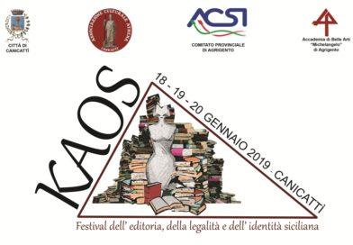 Libri, Kaos 2018 a Canicattì da 18 al 20 gennaio: assegnati i premi speciali